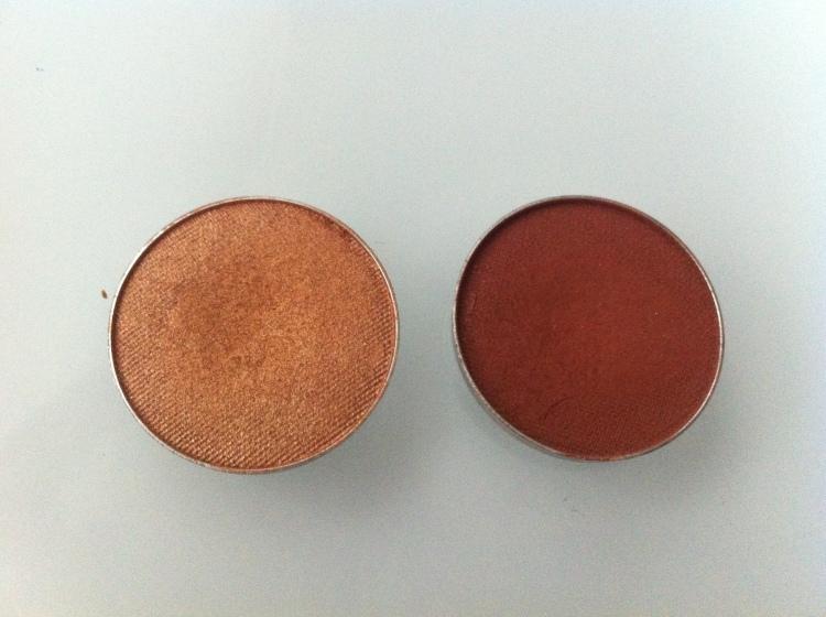 MakeupGeek luomivärit (vasemmalta): Glamorous   ja Cocoa bear.